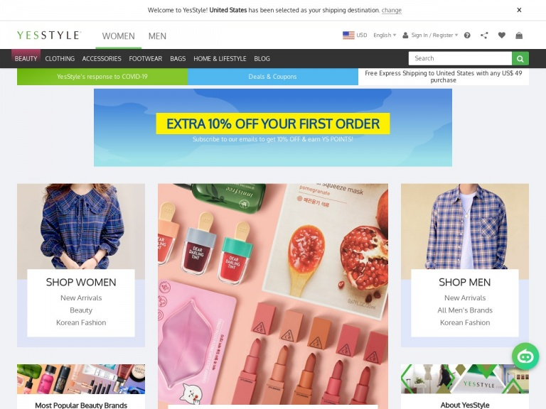 YesStyle.com-Spring Break up to 80% OFF with coupon