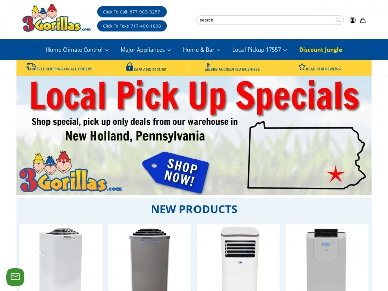 3Gorillas.com-Up to 35% off Portable Air Conditioners + Free Shipping