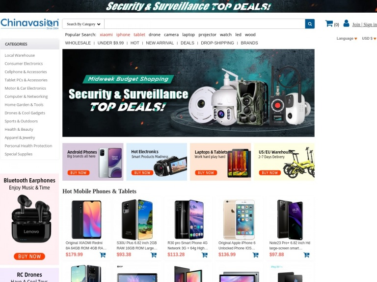 Chinavasion Wholesale Electronics & Gadgets-Cellphone & Accessories 5% Off