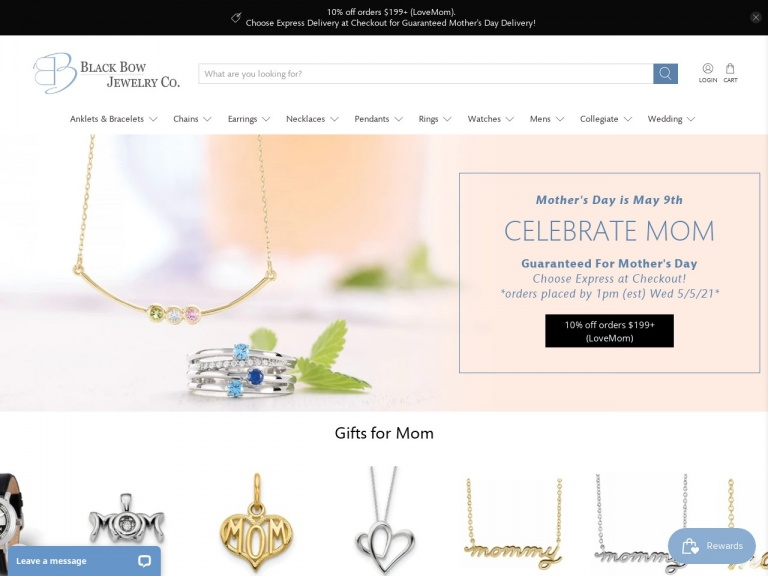 Black Bow Jewelry Co.-FREE EXPEDITED SHIPPING