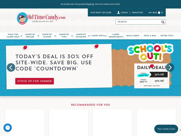 Old Time Candy Company-SCHOOLS OUT COUNTDOWN CANDY SALE!