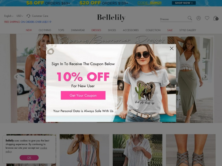 Bellelily-Sun-ready Styles! Enjoy Up To $30 Off for the Summer Sale