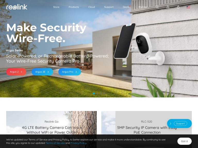 EZCloud Innovation Limited-Extra 10% off for Argus Pro/Argus Pro+SP/2 Pack Wire-Free Security Camera with Pro Performance