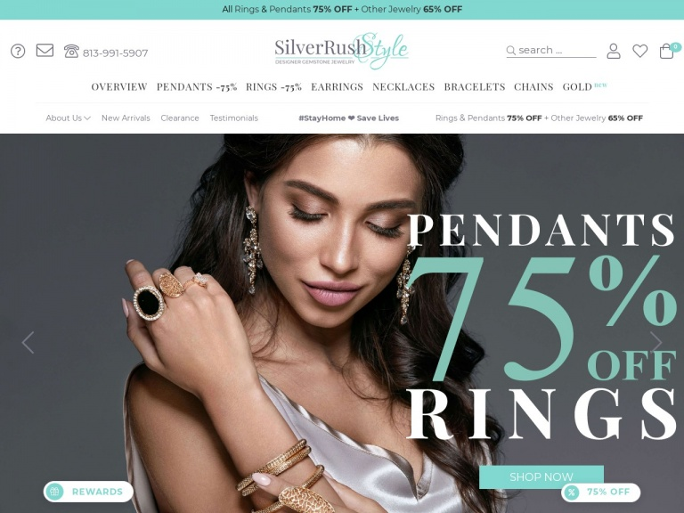 SilverRushStyle-One Week Only! All Rings & Pendants 75% OFF